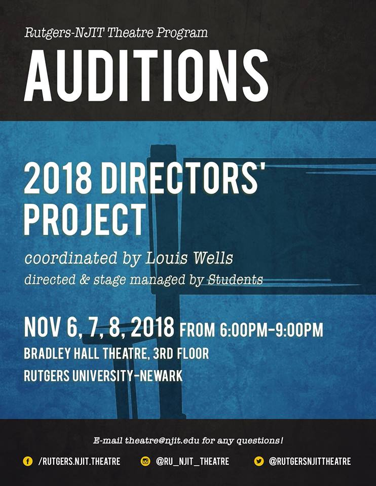 Auditions for The Director's Project 2018 (RU-NJIT Theatre