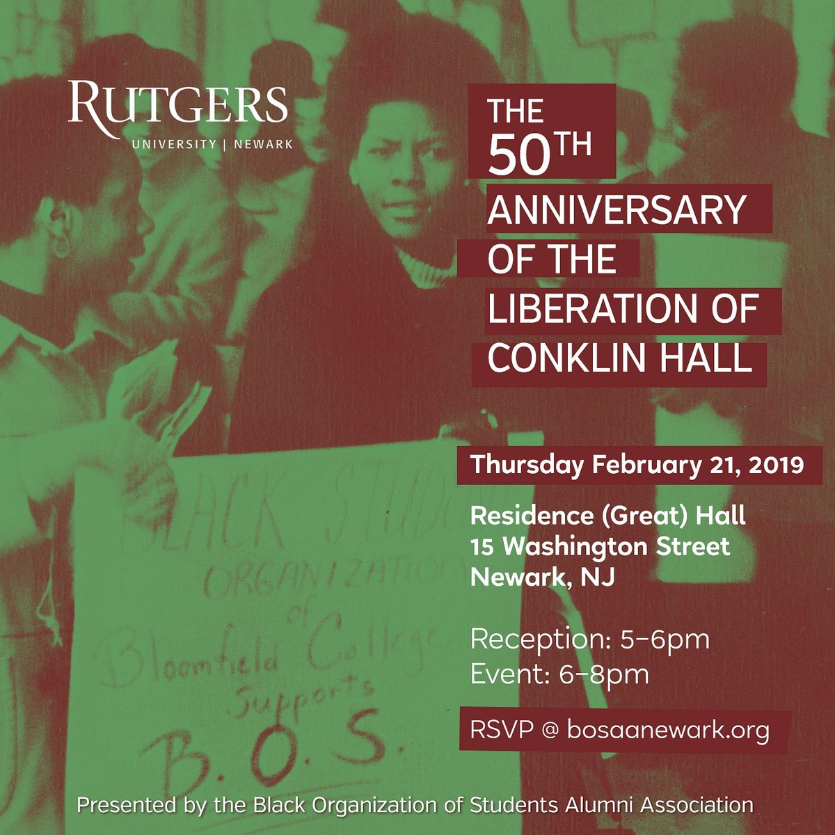 50th Anniversary of Liberation of Conklin Hall