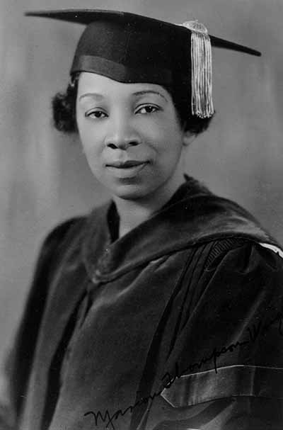 Marion Thompson Wright Graduation Picture