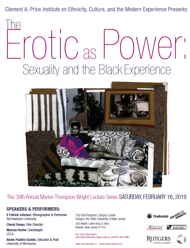 The Erotic as Power: Sexuality and the Black Experience | The 39th Annual  Marion Thompson Wright Lecture Series