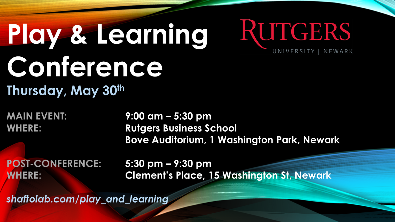 play and learning conference flyer