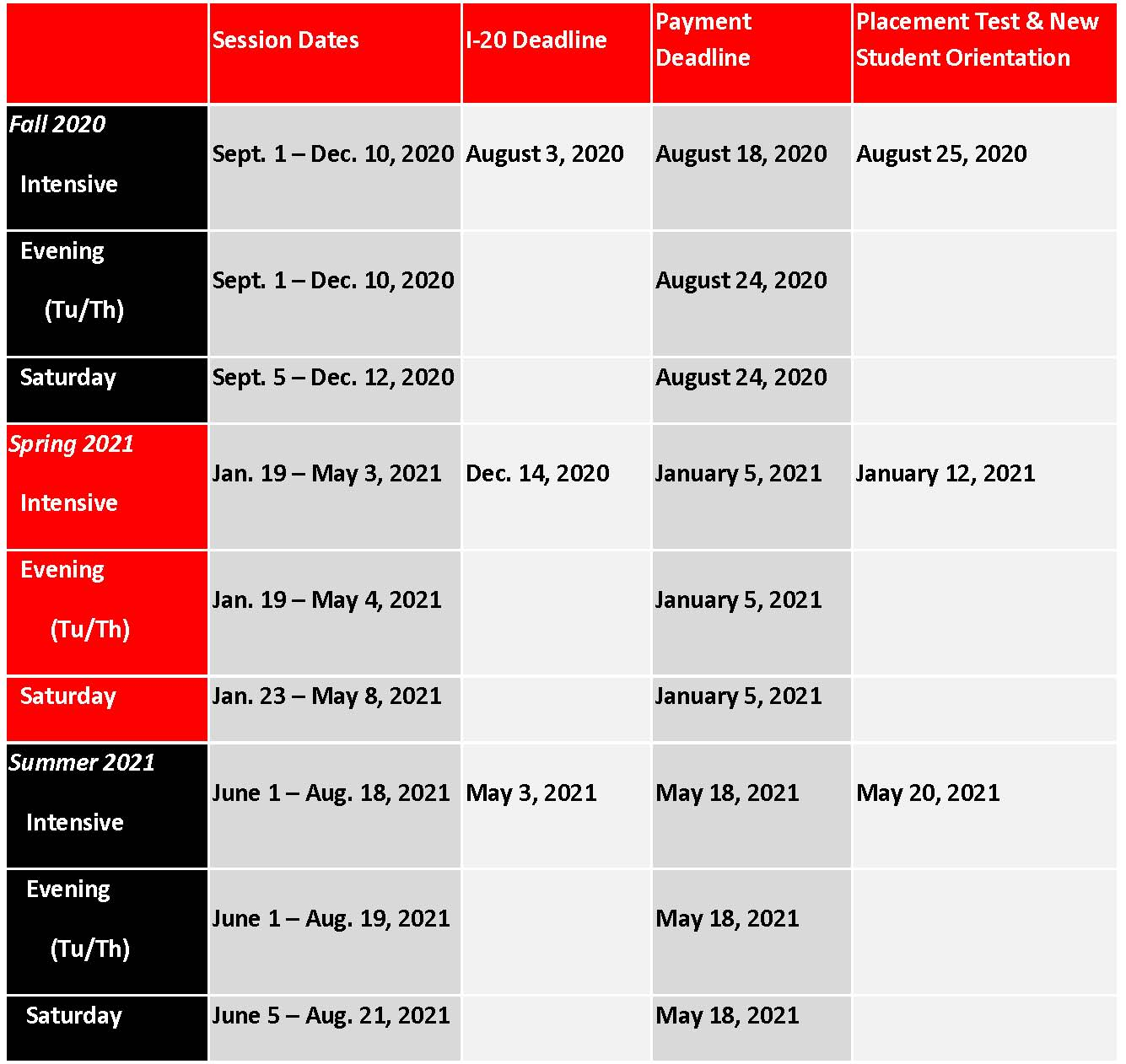 Calendars & Schedules | Rutgers SASN