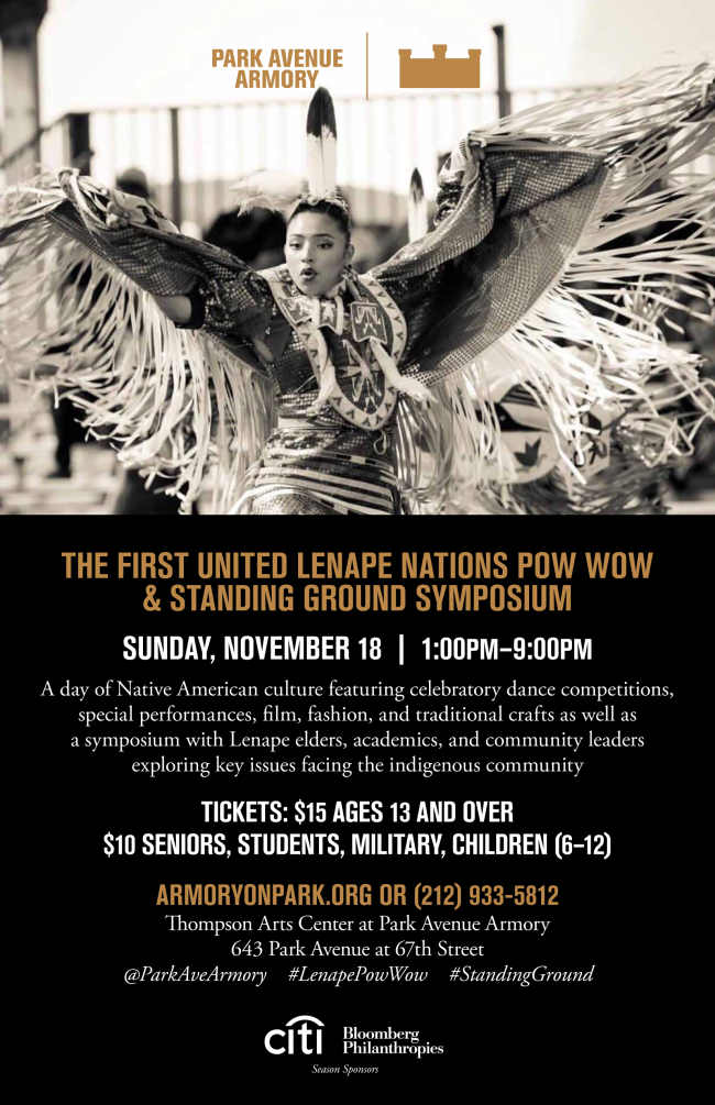 The First United Lenape Nations Pow Wow & Standing Ground Symposium Event flyer