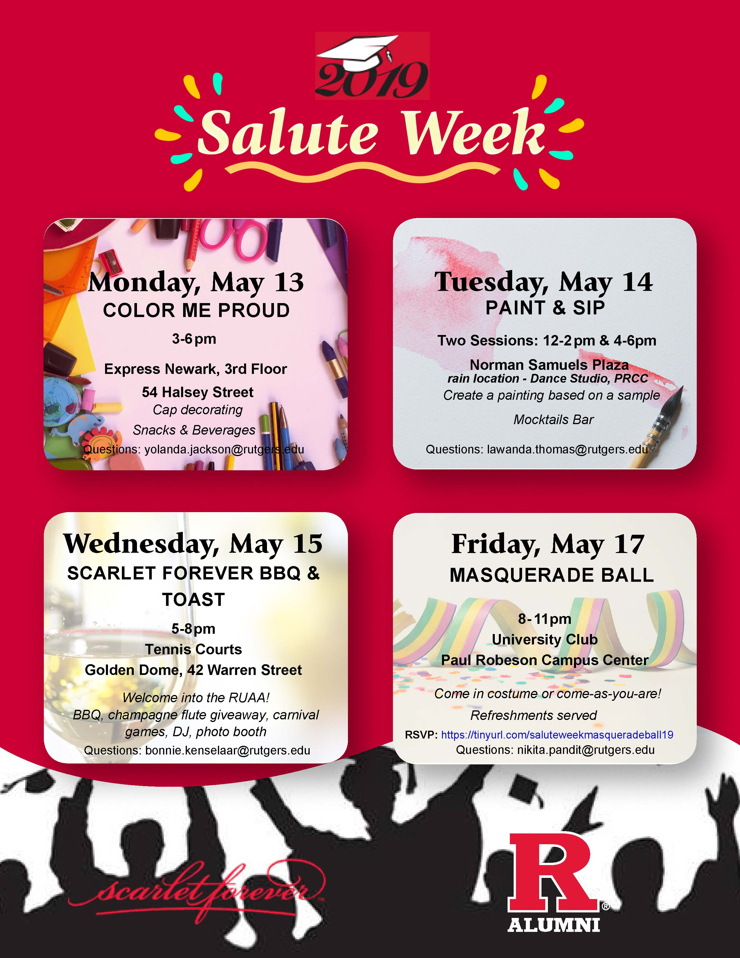 salute week events flyer