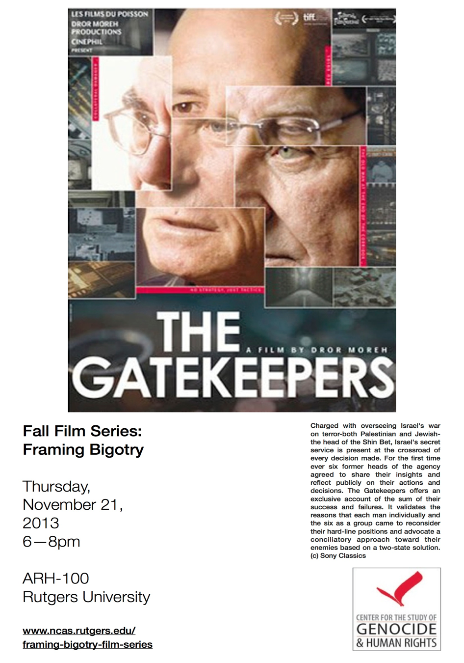gate keepers movie flyer