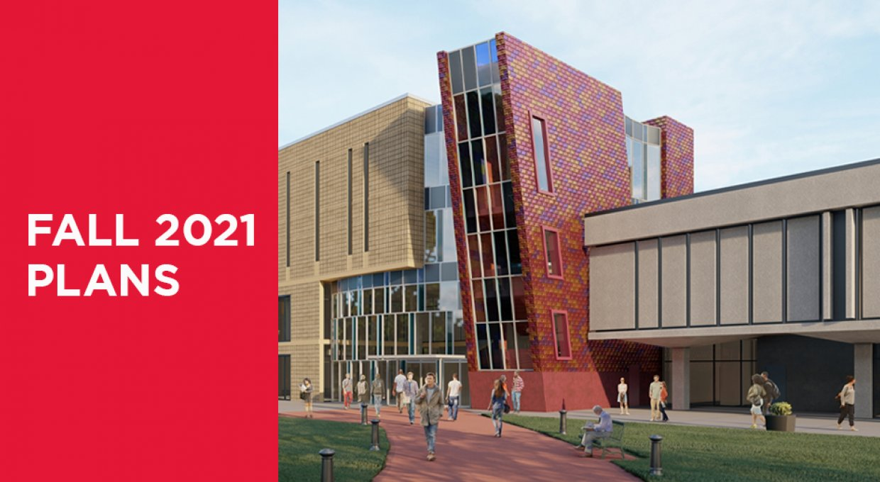 Fall 2021 plan with image of Dana Library
