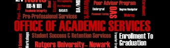 Rutgers Newark Office of Academic Services wordcloud