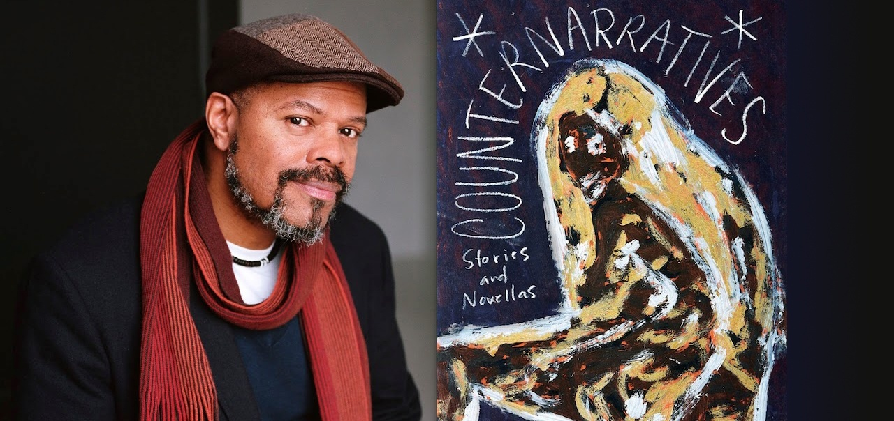 John Keene (left) and cover of Counternarratives