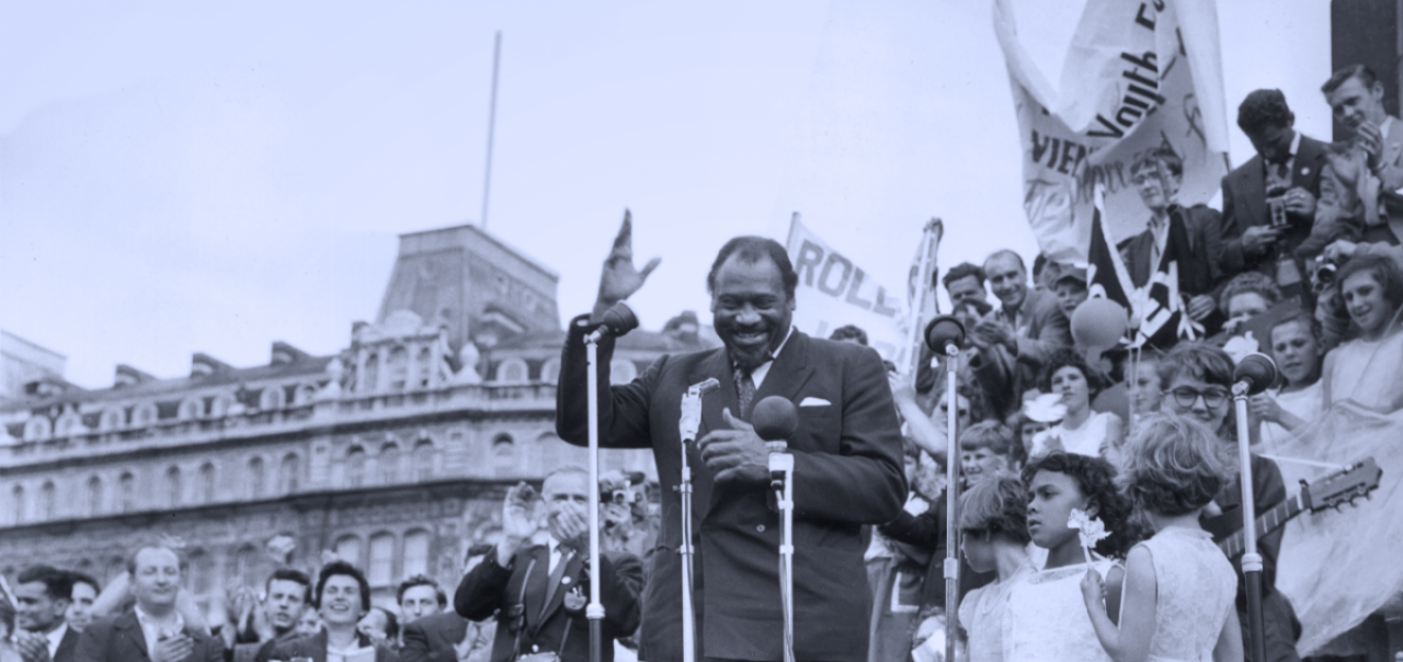 Paul Robeson giving speech