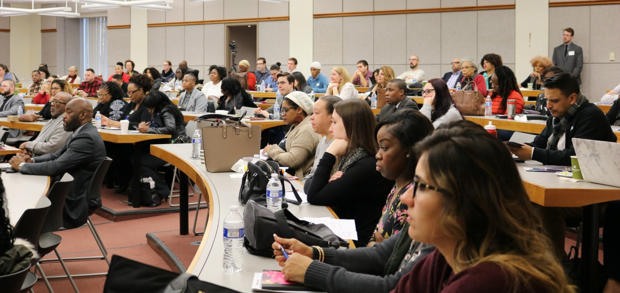 Conference attendees filled the lecture hall