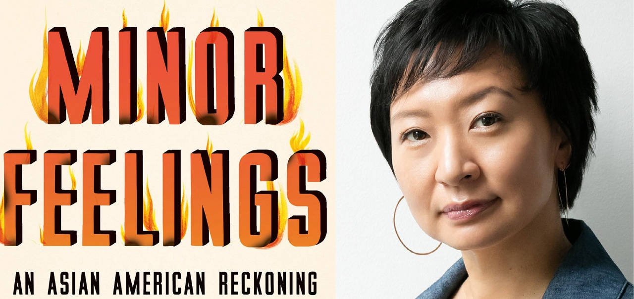 Cover of Minor Feelings and Cathy Park Hong headshot
