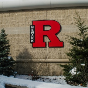 "Golden Dome ""R"" sign at winter"
