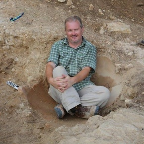 Photo of Gary Farney at archaeological site