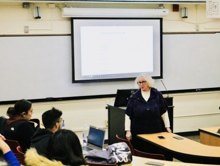 Law School Dean talks to students