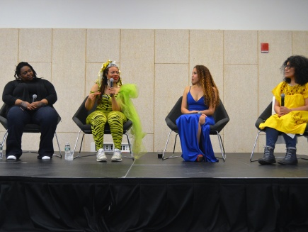 (L-R): Artists Dominique Duroseau, Ayana Evans, Lisette Morel and Mary Valverde