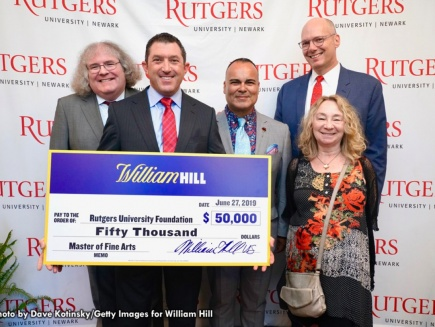 William Hill presents check to MFA program