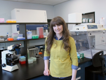 Ashley Murphy in her lab