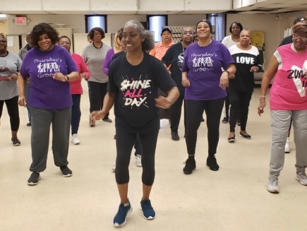 African American women exercising