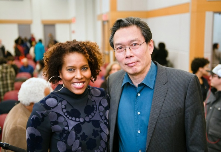 Salamishah Tillet and Jack Tchen at MTW at Paul Robeson Campus Center